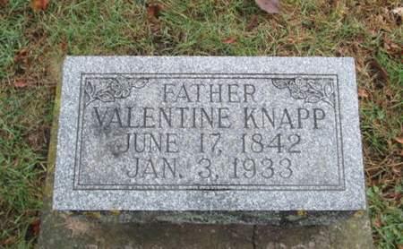 KNAPP, VALENTINE - Franklin County, Iowa   VALENTINE KNAPP