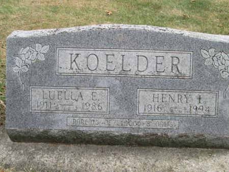 KOELDER, HENRY L. - Franklin County, Iowa   HENRY L. KOELDER