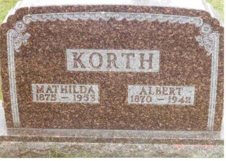 KORTH, MATHILDA - Franklin County, Iowa | MATHILDA KORTH