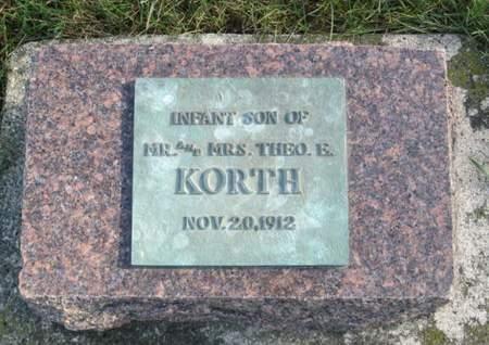 KORTH, INFANT SON - Franklin County, Iowa | INFANT SON KORTH