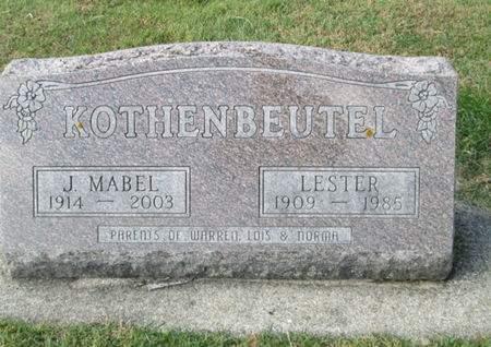 KOTHENBEUTEL, JESSIE MABEL - Franklin County, Iowa | JESSIE MABEL KOTHENBEUTEL
