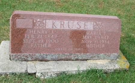 KRUSE, MARIA F. - Franklin County, Iowa | MARIA F. KRUSE