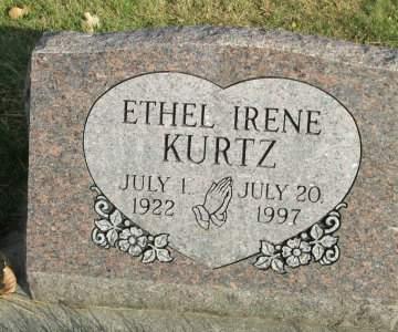 KURTZ, ETHYL IRENE - Franklin County, Iowa | ETHYL IRENE KURTZ