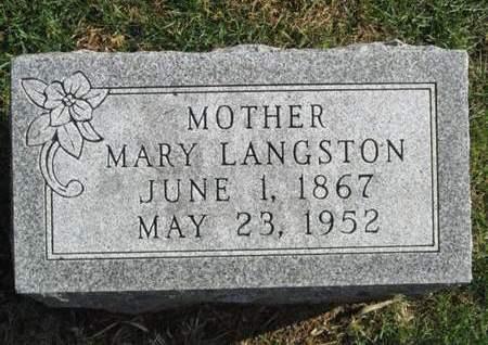 LANGSTON, MARY - Franklin County, Iowa   MARY LANGSTON