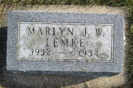 LEMKE, MARLYN J. W. - Franklin County, Iowa | MARLYN J. W. LEMKE