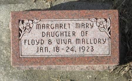 MALLORY, MARGARET MARY - Franklin County, Iowa | MARGARET MARY MALLORY