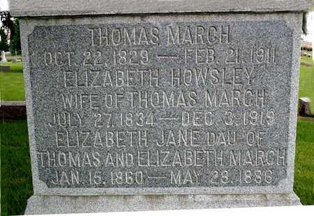 MARCH, THOMAS EDWARD - Franklin County, Iowa | THOMAS EDWARD MARCH
