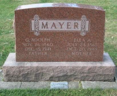 MAYER, G. ADOLPH - Franklin County, Iowa | G. ADOLPH MAYER