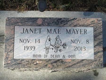 MAYER, JANET MAE - Franklin County, Iowa | JANET MAE MAYER
