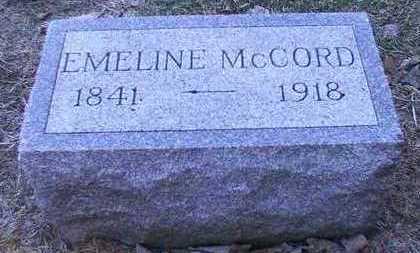 MCCORD, EMELINE FEDELIA - Franklin County, Iowa | EMELINE FEDELIA MCCORD