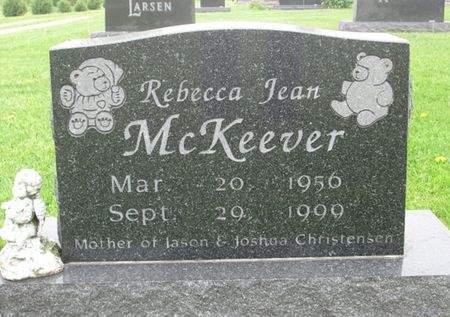 MCKEEVER, REBECCA JEAN - Franklin County, Iowa   REBECCA JEAN MCKEEVER