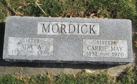 MORDICK, ADA A. - Franklin County, Iowa | ADA A. MORDICK