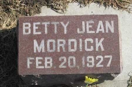 MORDICK, BETTY JEAN - Franklin County, Iowa | BETTY JEAN MORDICK