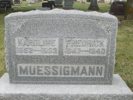 MUESSIGMANN, FREDRICK - Franklin County, Iowa | FREDRICK MUESSIGMANN