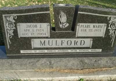MULFORD, PEARL MARIE - Franklin County, Iowa   PEARL MARIE MULFORD