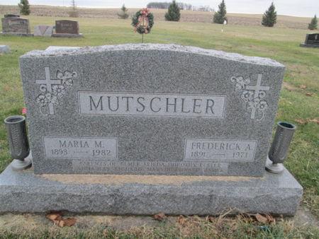 MUTSCHLER, MARIA M. - Franklin County, Iowa   MARIA M. MUTSCHLER
