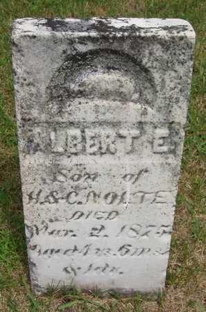 NOLTE, ALBERT E. - Franklin County, Iowa   ALBERT E. NOLTE