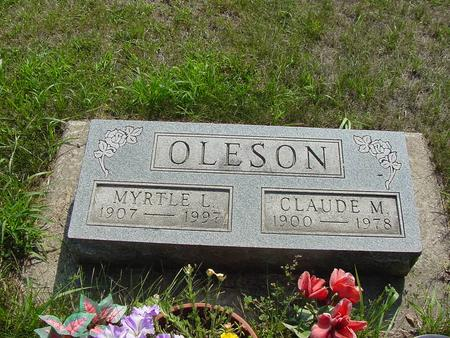 OLESON, CLAUDE M. - Franklin County, Iowa | CLAUDE M. OLESON