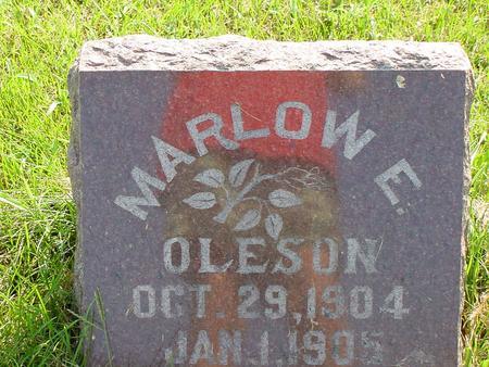 OLESON, MARLOW E. - Franklin County, Iowa | MARLOW E. OLESON