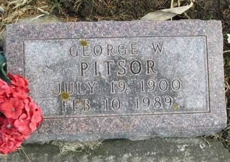 PITSOR, GEORGE W. - Franklin County, Iowa | GEORGE W. PITSOR