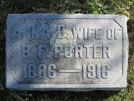 PORTER, ANNA D. - Franklin County, Iowa | ANNA D. PORTER