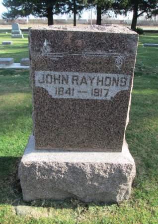 RAYHONS, JOHN - Franklin County, Iowa | JOHN RAYHONS
