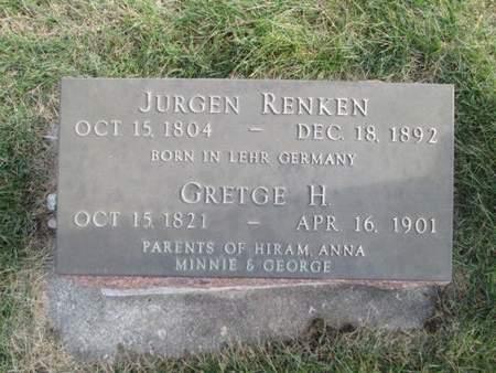 RENKEN, GRETGE H. - Franklin County, Iowa | GRETGE H. RENKEN