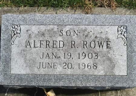 ROWE, ALFRED R. - Franklin County, Iowa   ALFRED R. ROWE