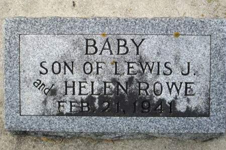 ROWE, INFANT SON - Franklin County, Iowa | INFANT SON ROWE
