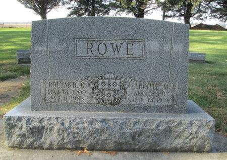ROWE, LUCILLE M. - Franklin County, Iowa | LUCILLE M. ROWE