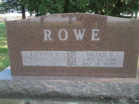 ROWE, RAYMOND F. - Franklin County, Iowa | RAYMOND F. ROWE
