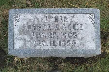 ROWE, WAYNE A. - Franklin County, Iowa | WAYNE A. ROWE