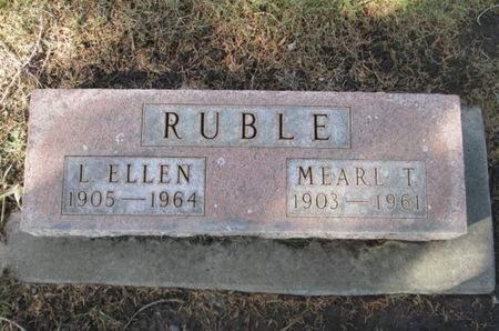 RUBLE, L. ELLEN - Franklin County, Iowa   L. ELLEN RUBLE