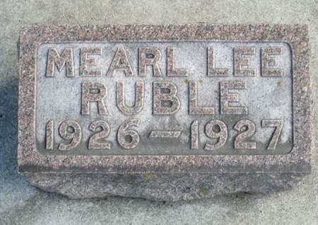 RUBLE, MEARL LEE - Franklin County, Iowa | MEARL LEE RUBLE