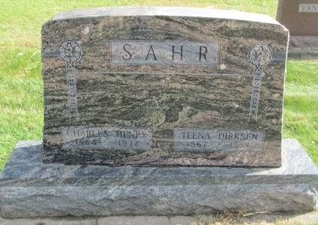 SAHR, CHARLES HENRY - Franklin County, Iowa   CHARLES HENRY SAHR