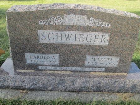 SCHWIEGER, HAROLD A. - Franklin County, Iowa | HAROLD A. SCHWIEGER
