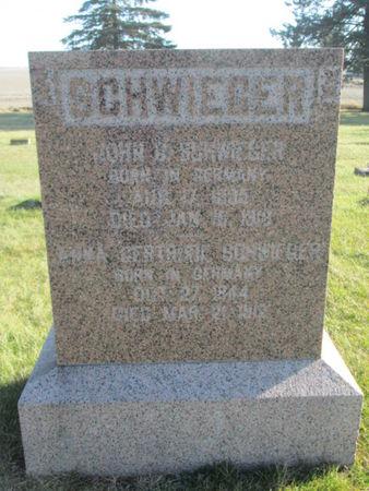 SCHWIEGER, GERTRUDE - Franklin County, Iowa   GERTRUDE SCHWIEGER