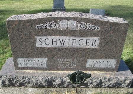 SCHWIEGER, LOUIS E. - Franklin County, Iowa | LOUIS E. SCHWIEGER