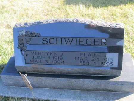 SCHWIEGER, ELAINE J. - Franklin County, Iowa | ELAINE J. SCHWIEGER