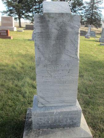 SHULTZ, HENRY W. - Franklin County, Iowa   HENRY W. SHULTZ