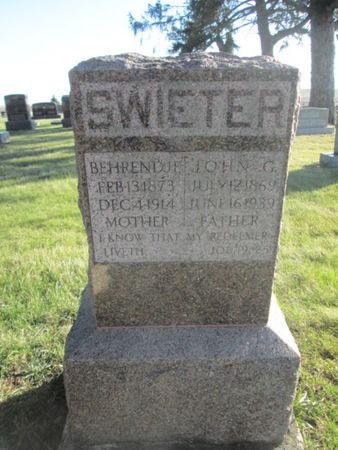 SWIETER, JOHN G. - Franklin County, Iowa   JOHN G. SWIETER