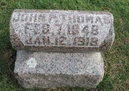 THOMAS, JOHN P. - Franklin County, Iowa   JOHN P. THOMAS