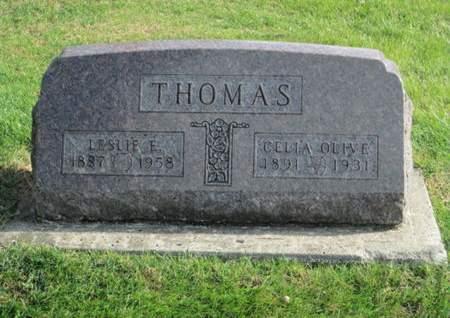 THOMAS, LESLIE E. - Franklin County, Iowa   LESLIE E. THOMAS
