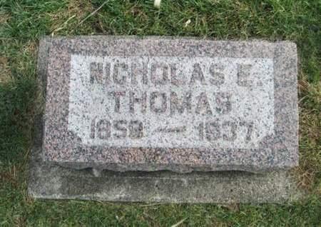 THOMAS, NICHOLAS E. - Franklin County, Iowa   NICHOLAS E. THOMAS