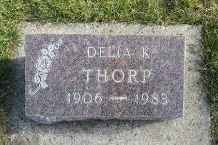 THORP, DELIA K. - Franklin County, Iowa   DELIA K. THORP