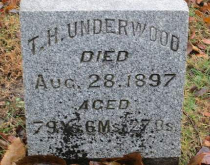 UNDERWOOD, T.H. - Franklin County, Iowa | T.H. UNDERWOOD