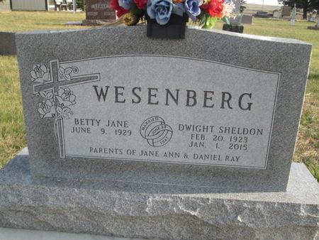 WESENBERG, DWIGHT SHELDON - Franklin County, Iowa | DWIGHT SHELDON WESENBERG