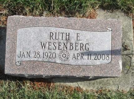 WESENBERG, RUTH E. - Franklin County, Iowa | RUTH E. WESENBERG
