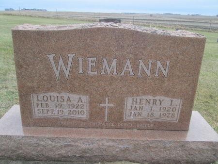 WIEMANN, LOUIS A. - Franklin County, Iowa | LOUIS A. WIEMANN