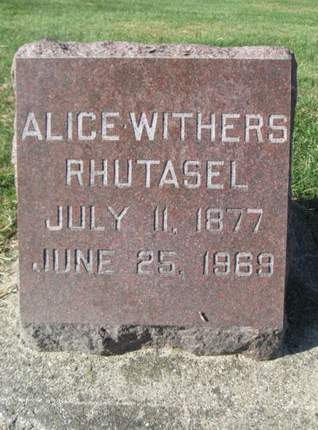 WITHERS RHUTASEL, ALICE - Franklin County, Iowa | ALICE WITHERS RHUTASEL